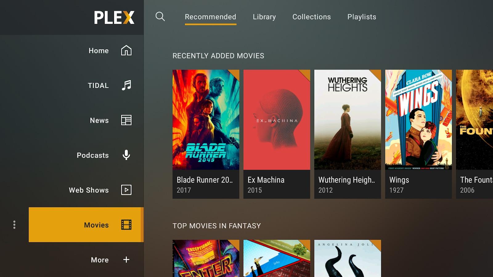 Plex si aggiorna su Android TV con la nuova interfaccia