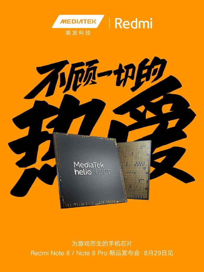 Ormai è ufficiale: i nuovi Redmi Note 8 avranno i processori MediaTek G90 e G90T (foto)