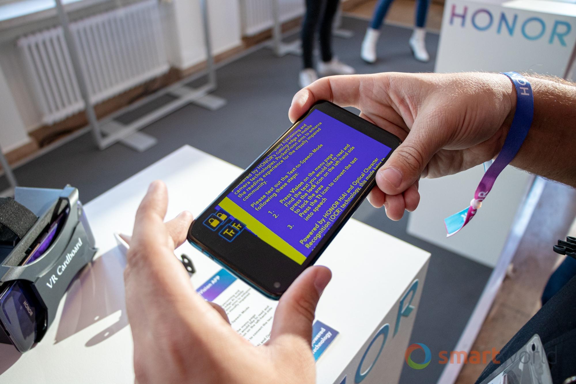 Honor PocketVision è la lodevole app Honor dedicata agli ipovedenti (foto)