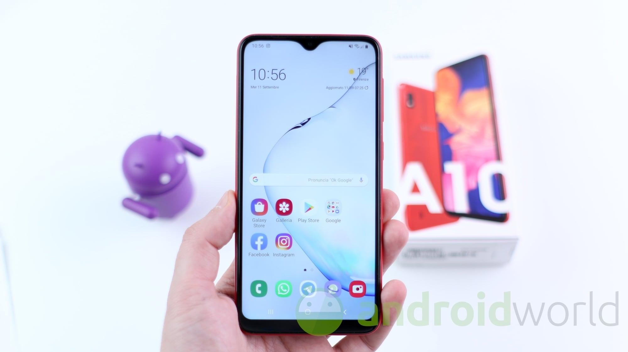 Galaxy A10 festeggia l'arrivo di Android 11: rollout ufficiale in India