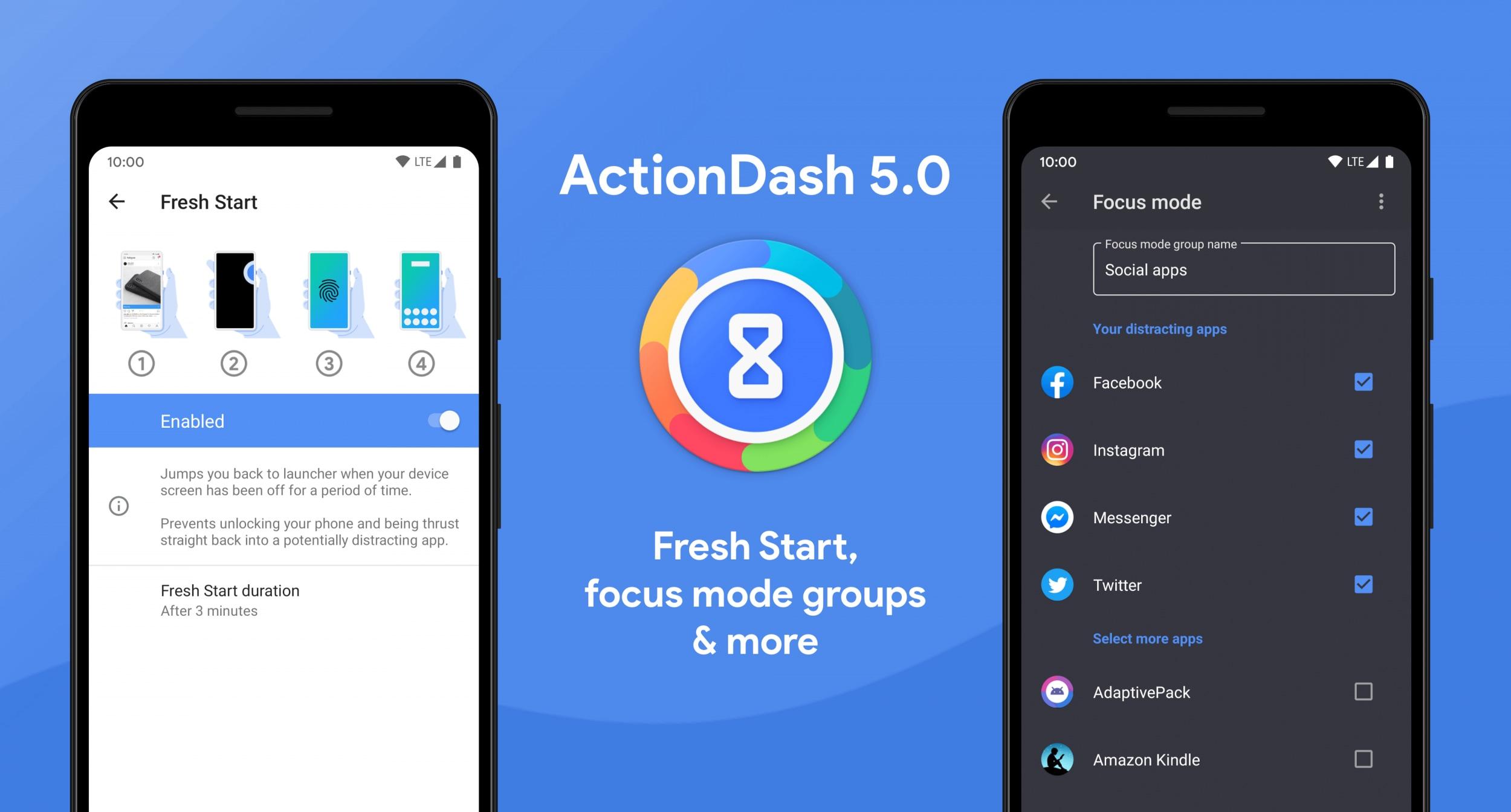 Action Dash 5.0: ecco le novità per il Digital Wellbeing del creatore di Action Launcher (foto)