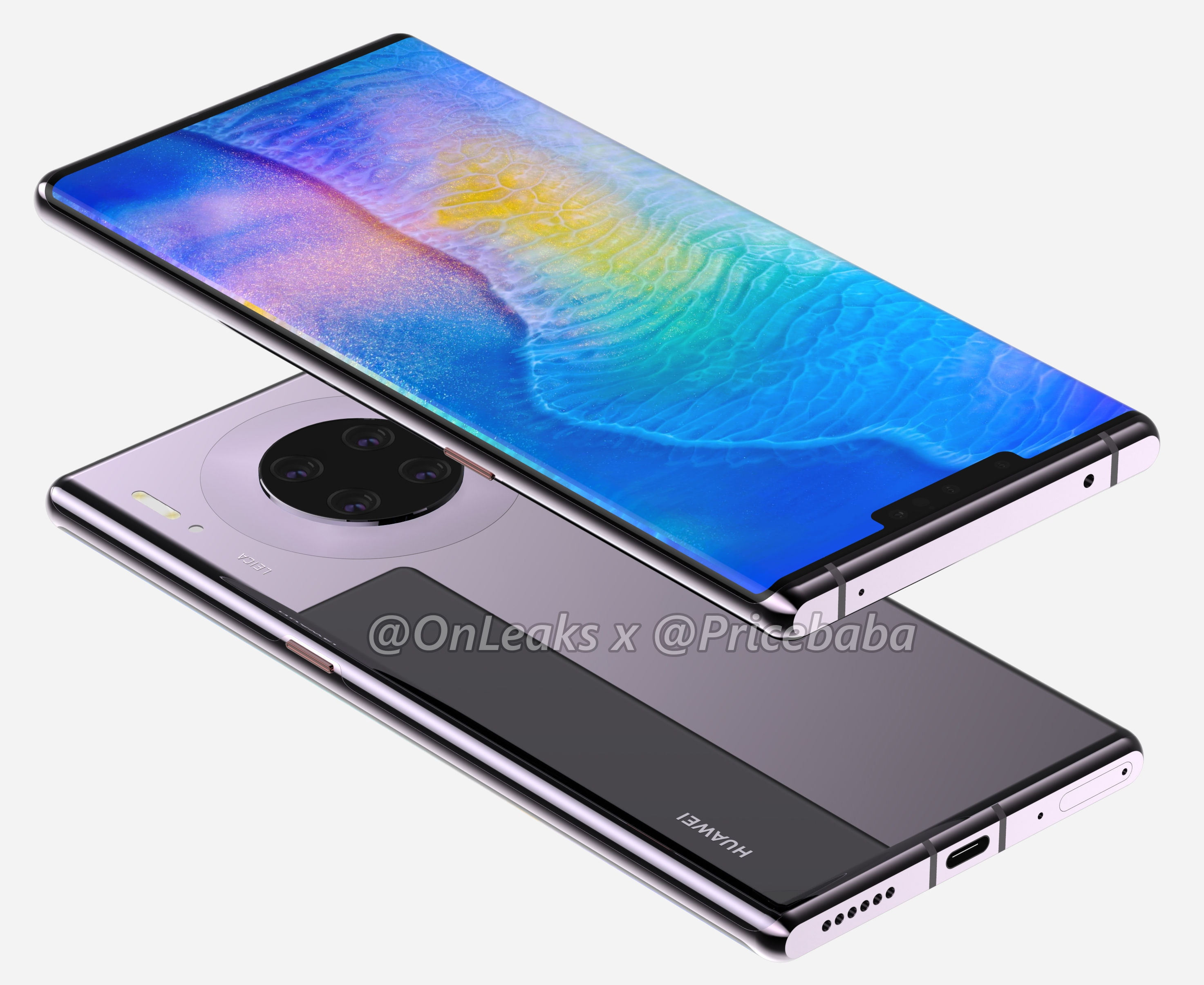 Huawei Mate 30 Pro is just like you imagine it in the 360 ​​° render of @OnLeaks: beautiful and extreme (photos and videos) 1