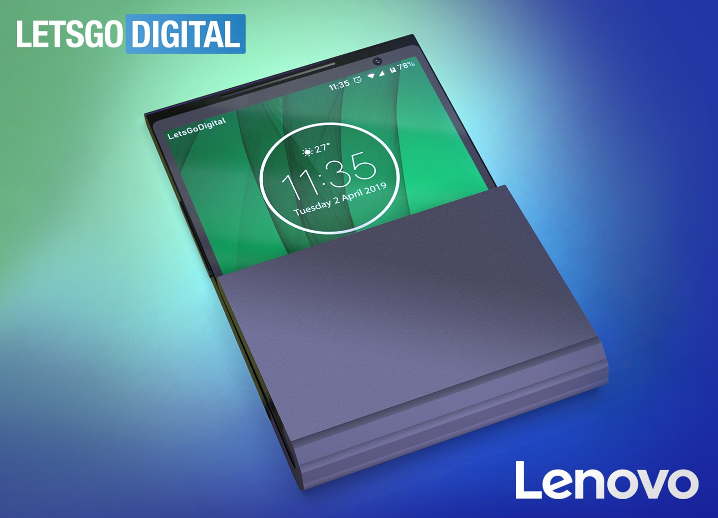"Lenovo returns to the office by patenting a folding smartphone ""to taste"" (photo) 1"