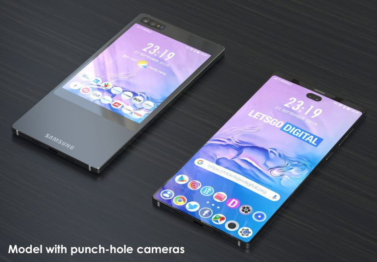 And if Samsung Galaxy S11e had a double display? (photo) 1
