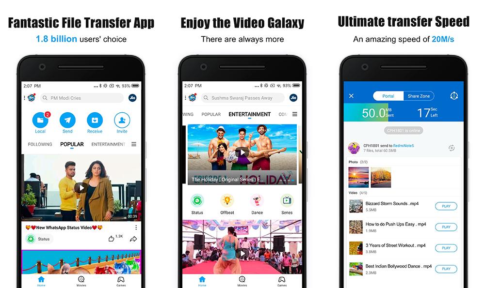 SHAREit si aggiorna per tenere più al sicuro foto e video privati