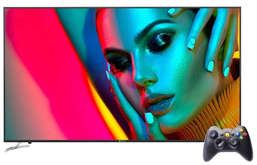 """Motorola ci ha preso gusto con le smart TV: ecco un nuovo modello da 75"""" 4K LED con gamepad incluso (foto)"""