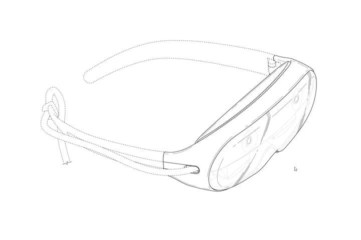 Questo brevetto mostra un visore AR di Samsung... A forma di maschera da sub? (foto)