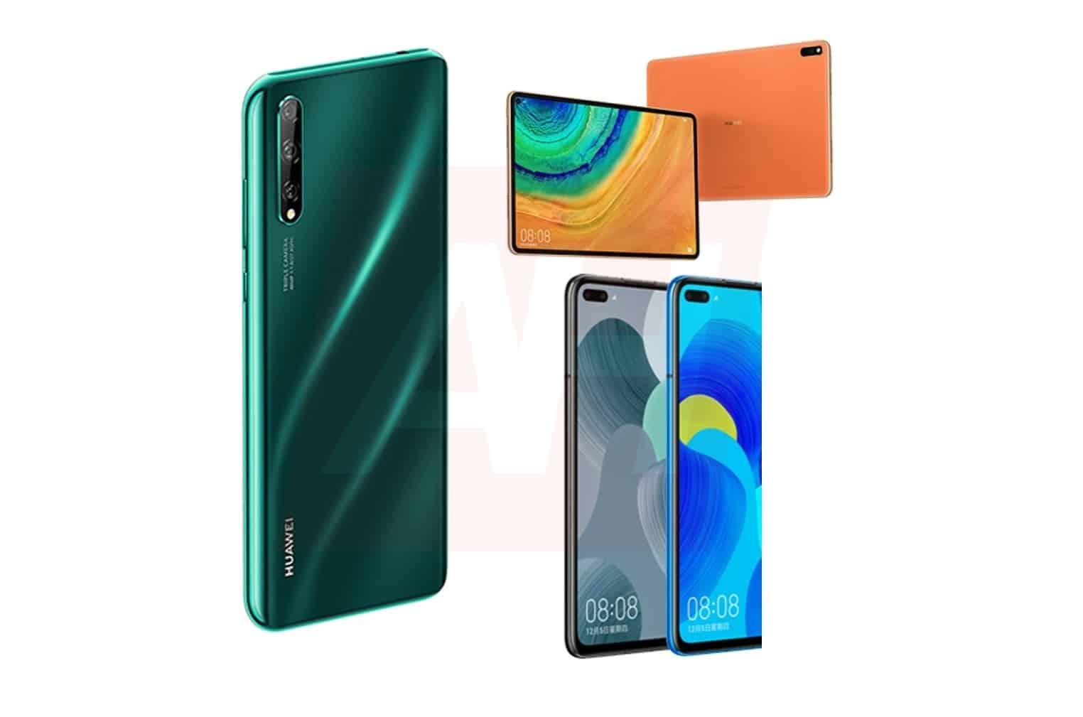 È arrivato un bastimento carico di (colorati) leak per i prossimi Huawei: P Smart 2020, MediaPad Pro e Nova 6 (foto)