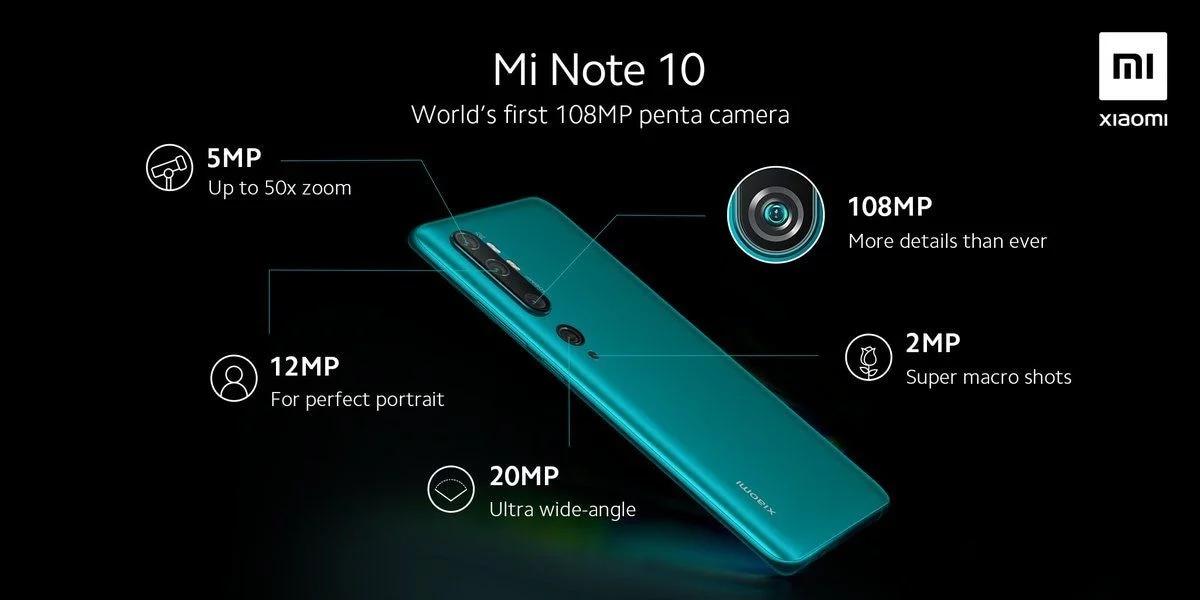 Xiaomi Mi Note 10: tutti i dettagli sulla prima penta-cam da 108 MP (foto)