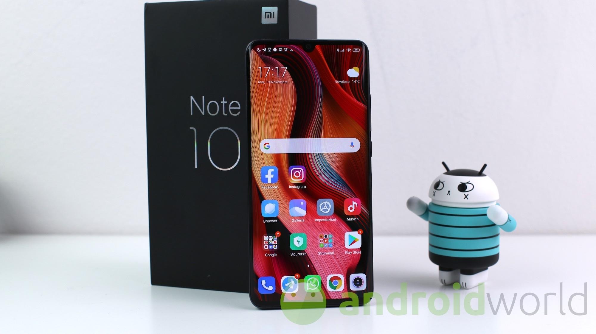Android 10 arriva ufficialmente per Xiaomi Mi Note 10 ...