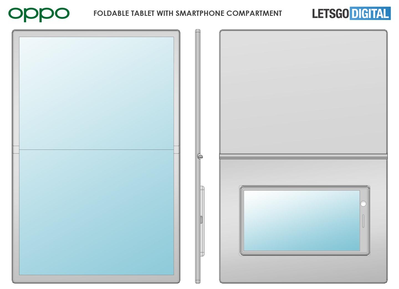 Ricordate i Padfone? OPPO vuole fare lo stesso, ma con il tablet flessibile (foto)
