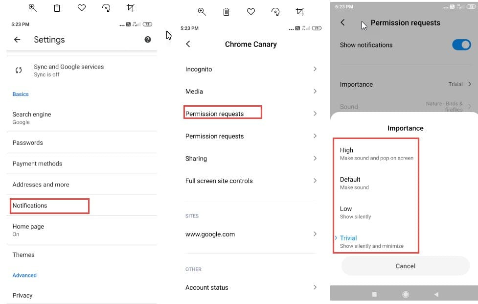 Chrome-Android-Notifications-Permission-Requests-settings