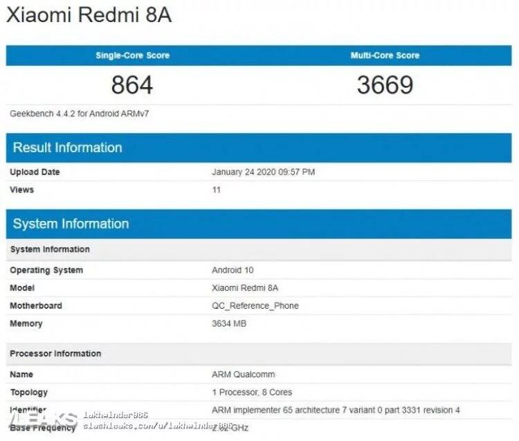 Xiaomi-Redmi-8A-Android-10-Geekbench