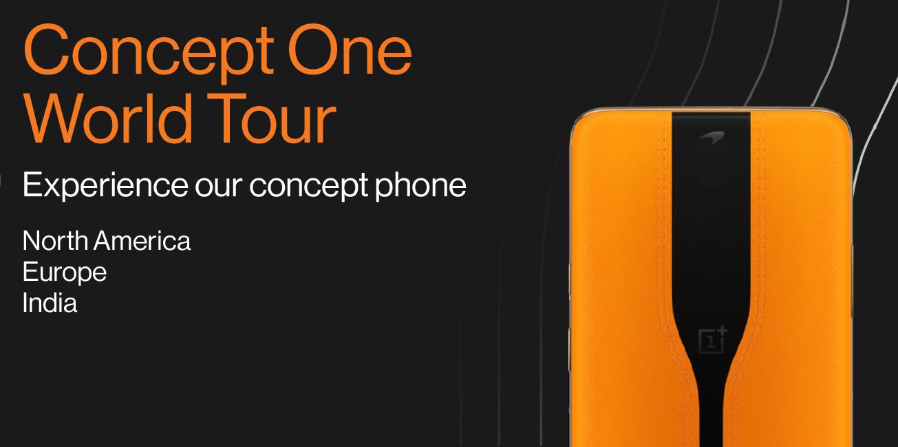 Se volete vedere OnePlus Concept One dal vivo preparatevi a viaggiare: parte un tour mondiale, ma niente Italia