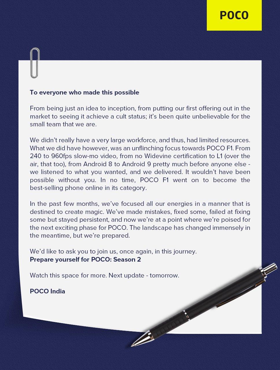 Pocophone ha scelto un modo bizzarro per annunciare l'arrivo di Poco F2 (o forse si tratta di tutt'altro?) (video)