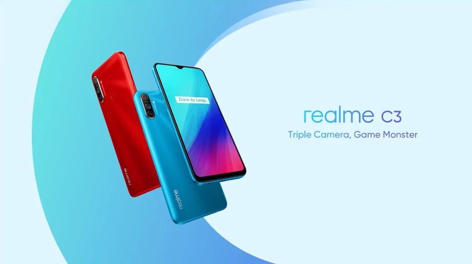 Realme C3 è ufficiale per l'Italia: l'entry level con Helio G70 con Android 10 (foto)