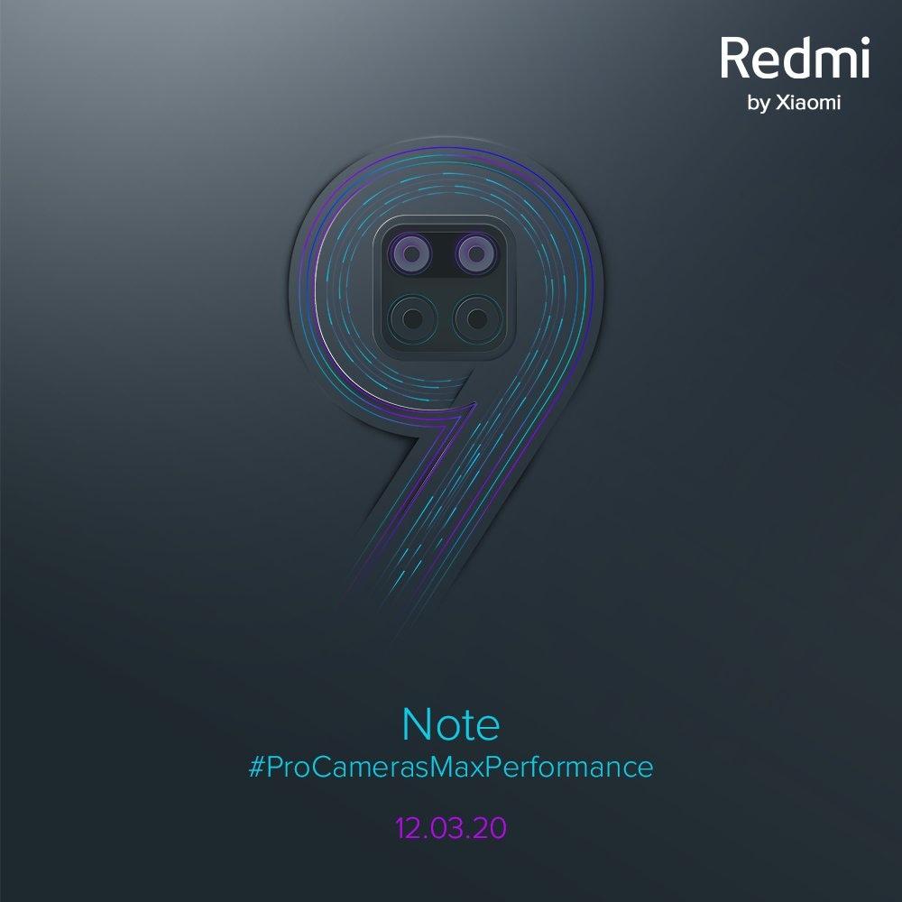 Redmi Note 9 svelato in India il 12 marzo: fotocamere da 'pro', per stupire una volta di più (aggiornato)