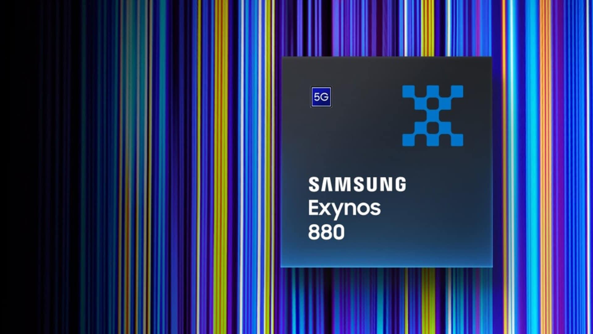 Samsung svela il nuovo processore Exynos 880: 5G e performance da gaming anche per la fascia media (foto)