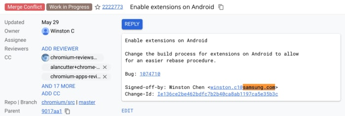 chromium-android-extensions-samsung