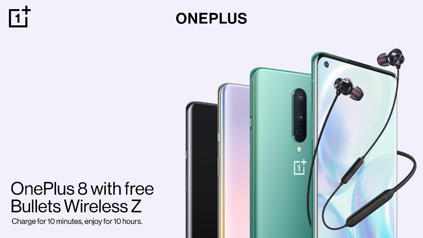 OnePlus lancia il suo Bundle Gaming: acquistando OnePlus 8 riceverete le Bullets Wireless Z in regalo