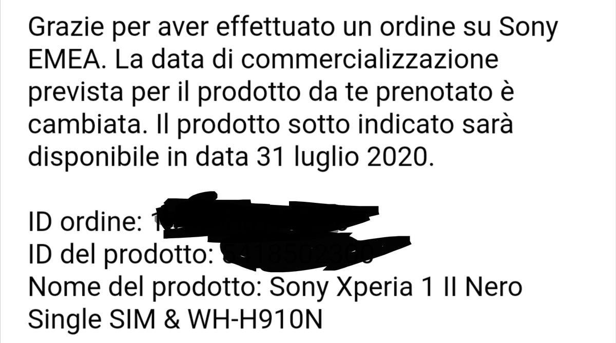 Sony Xperia 1 II ritardo 2