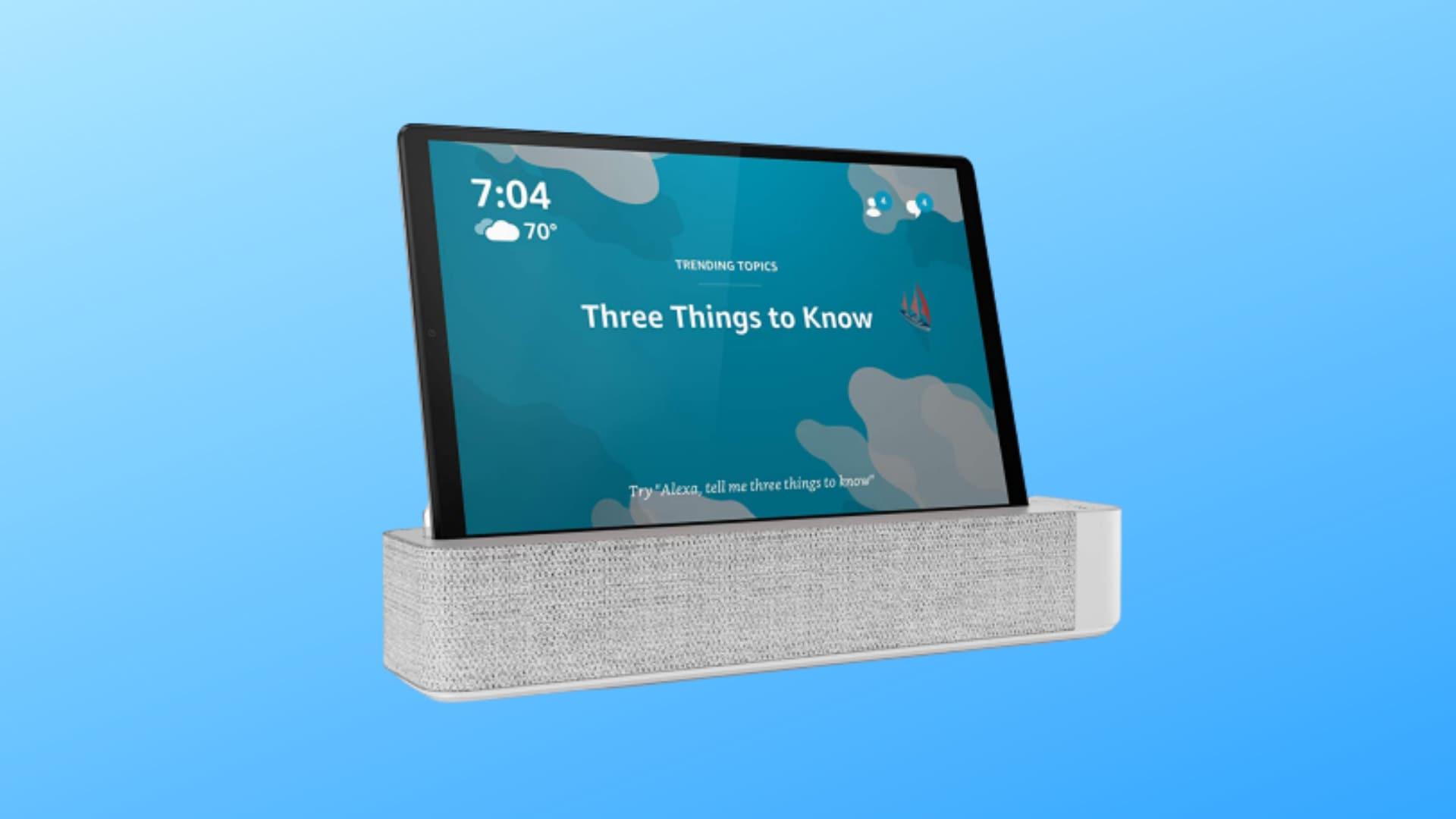 Tablet + Smart Speaker a soli 199€! Offerta Amazon per Lenovo M10 Plus