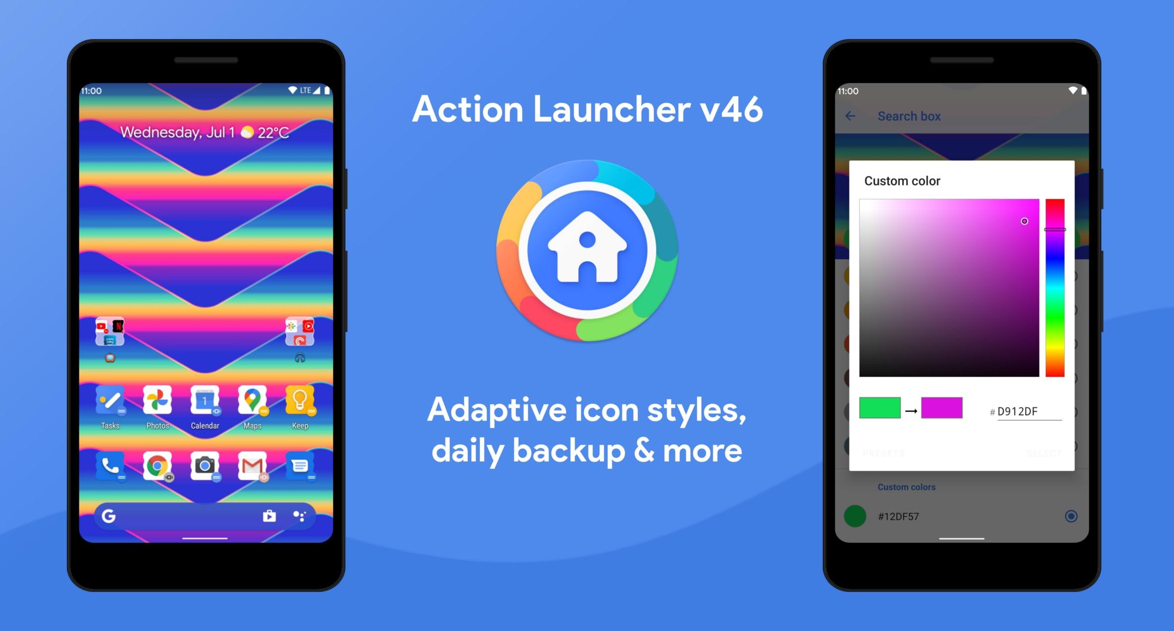 Belle novità per Action Launcher: nuovi stili di icone adattive, colori manuali per Quicktheme e altro ancora (foto)