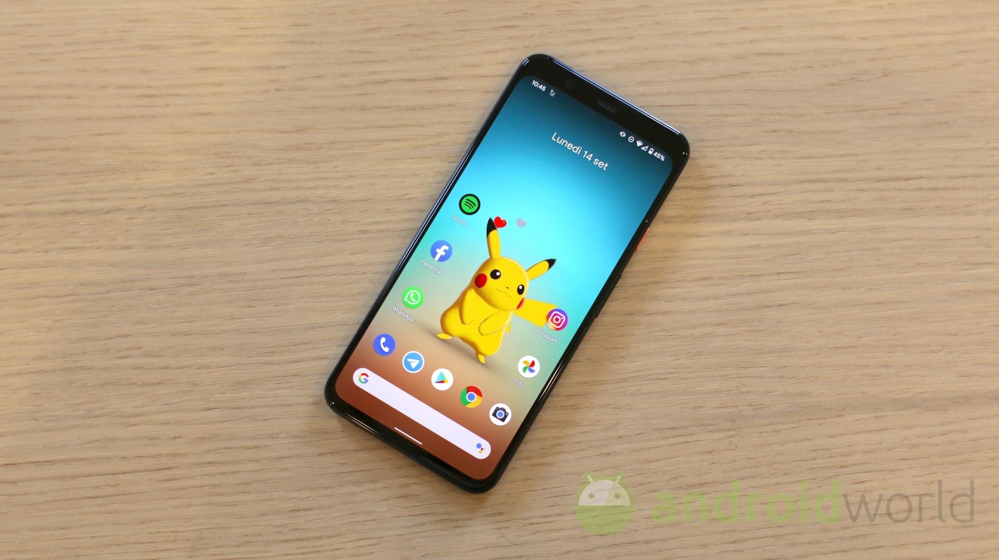 Come avere lo sfondo del Pixel 4 di Pikachu / Pokémon su tutti gli smartphone Android