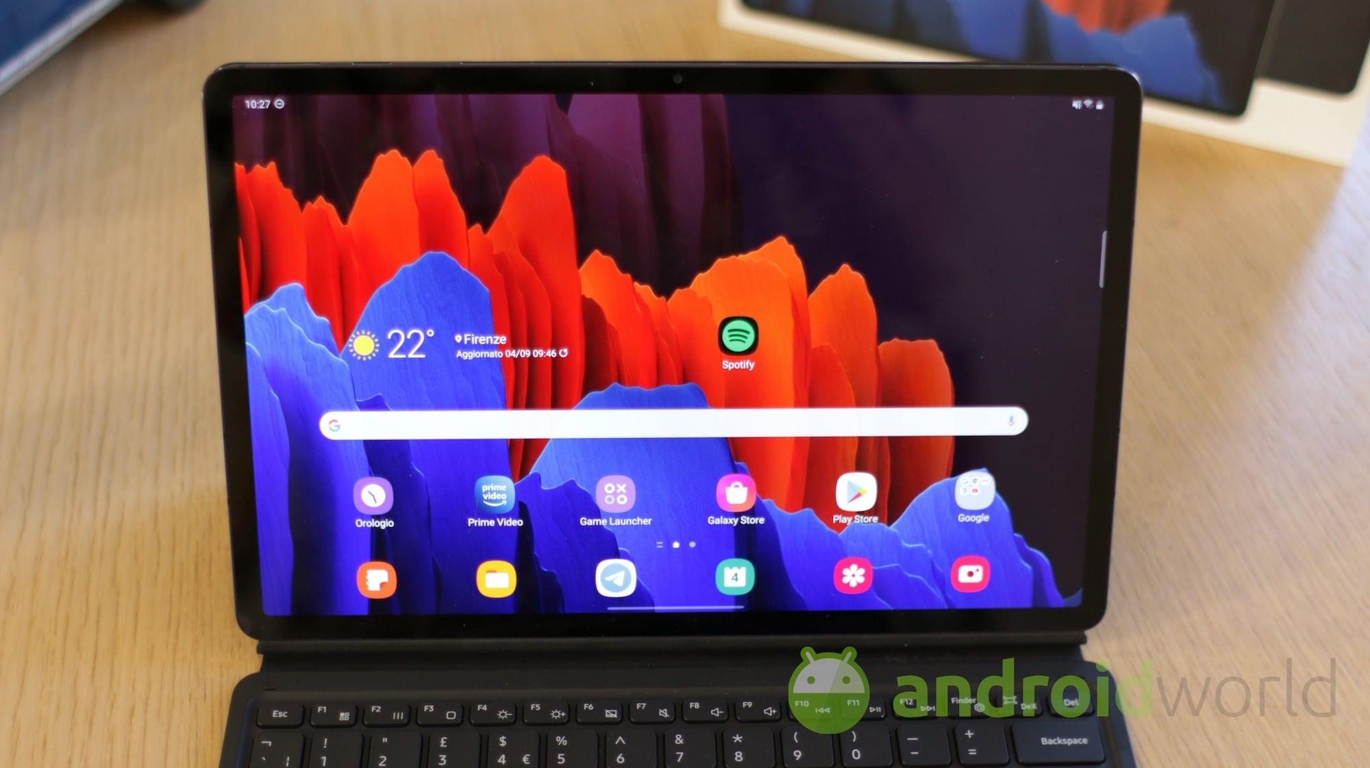 Il nuovo aggiornamento per Galaxy Tab S7 …