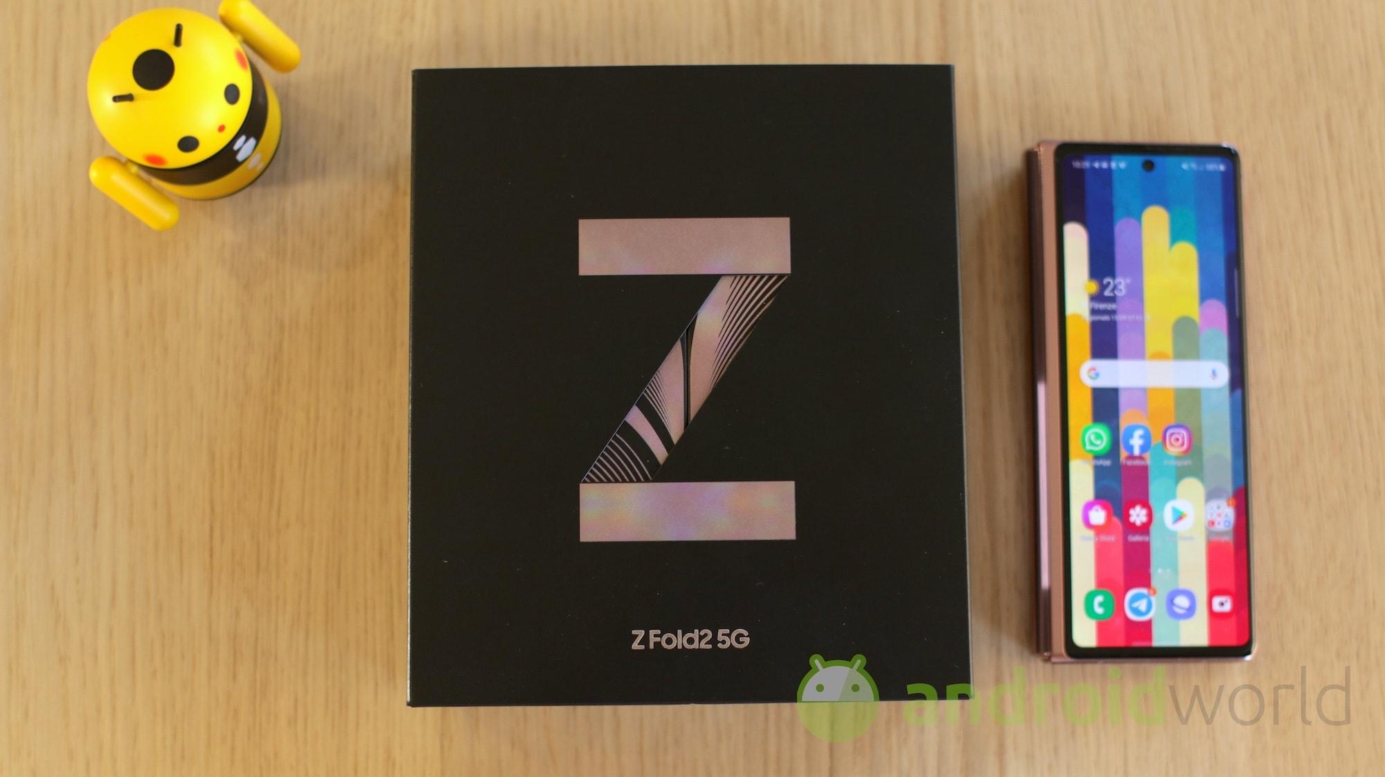 Le novità di Galaxy Z Fold 3 riguarderanno anche le colorazioni