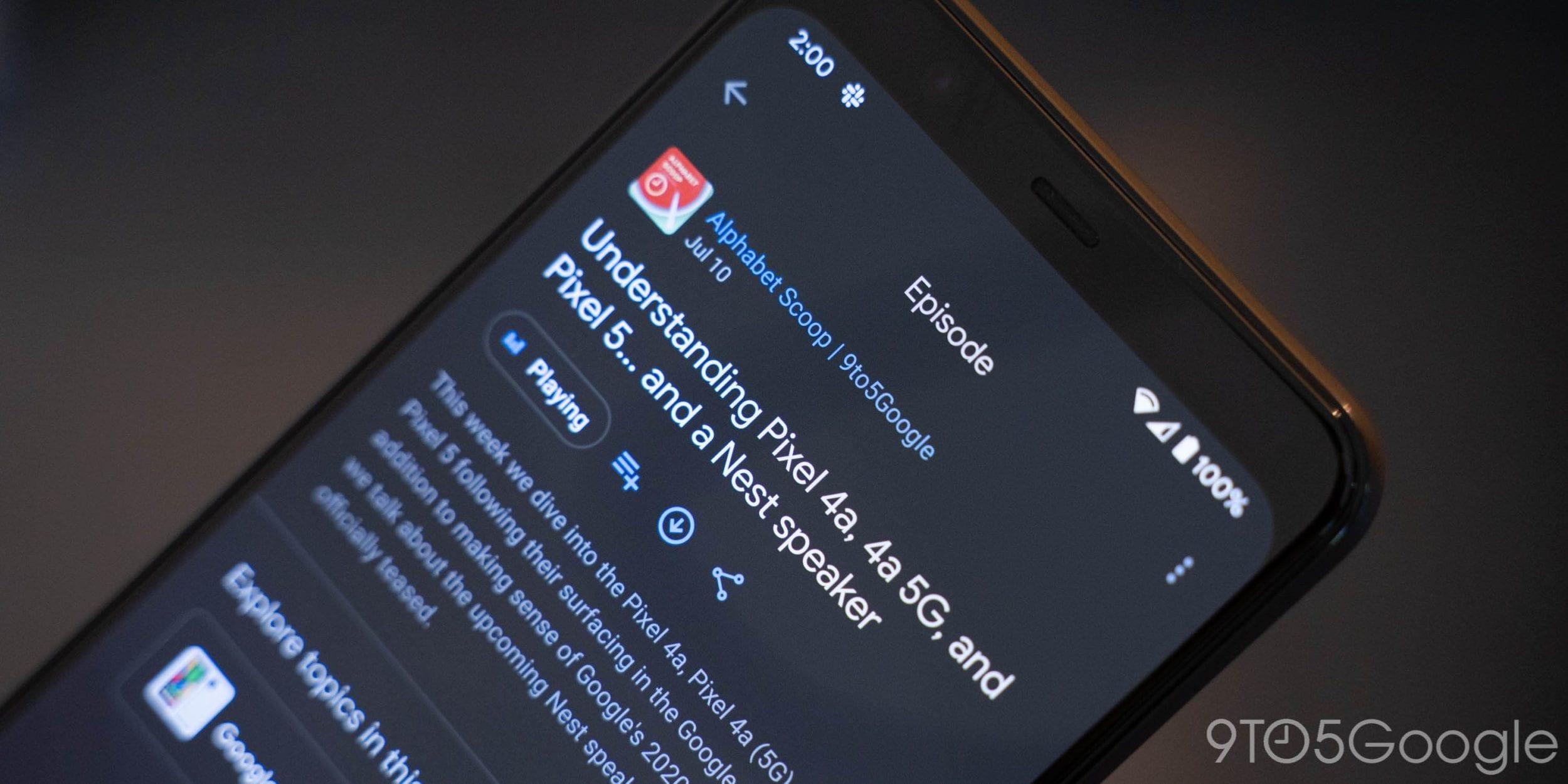"""Nuova aggiunta per Google Podcasts: la schermata di riproduzione accoglie il pulsante """"Trasmetti"""" (foto)"""