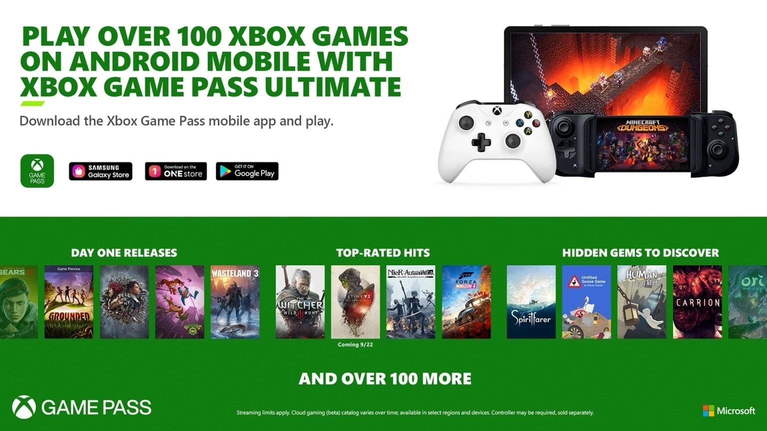 Xbox Game Pass da oggi è anche cloud gaming su Android con 167 titoli giocabili!