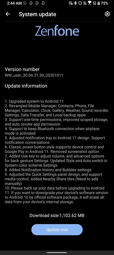 ASUS-ZenFone-7-Pro-Android-11-Beta-Changelog