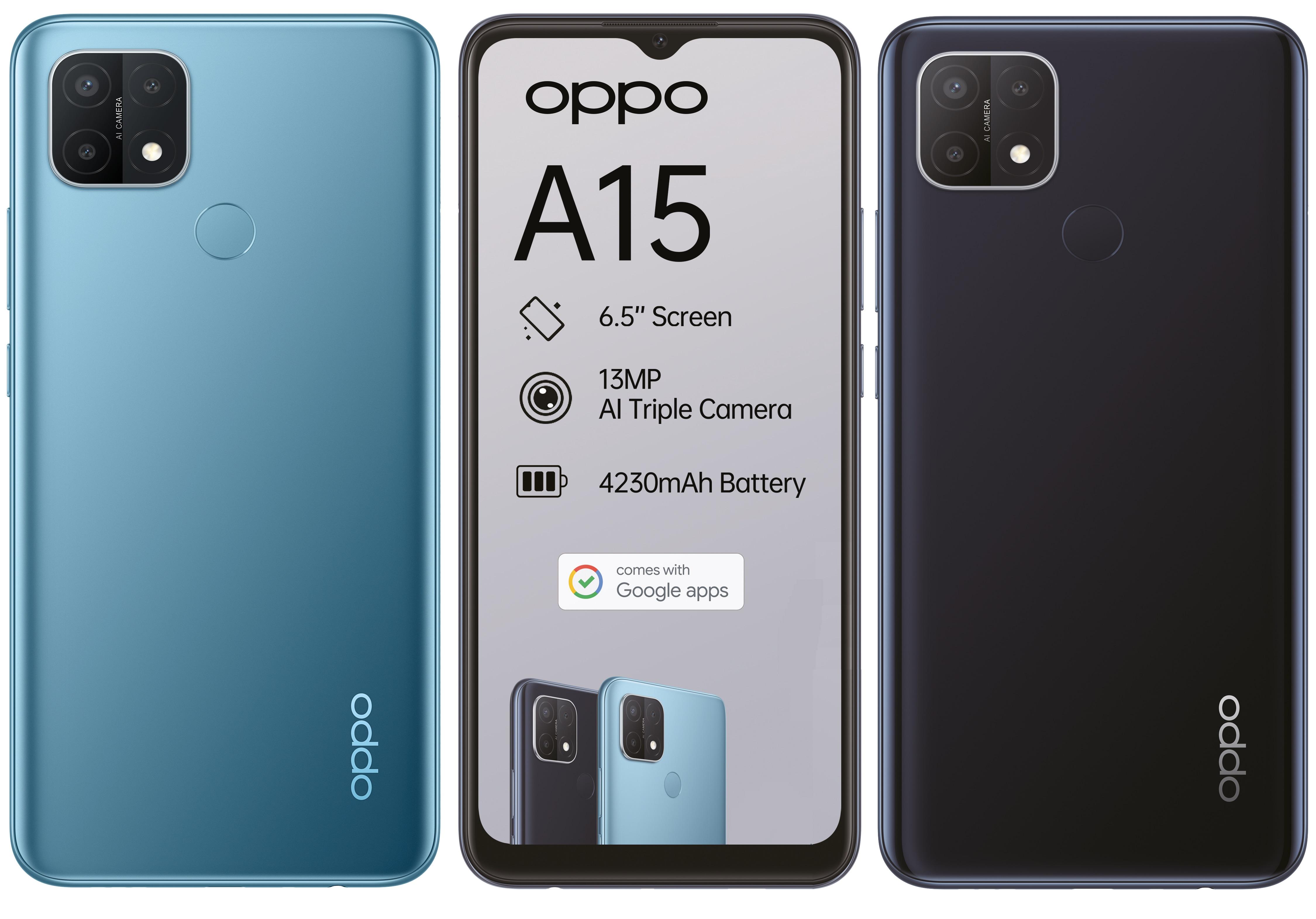 Ecco come sarà il nuovo OPPO A15: display da 6,5