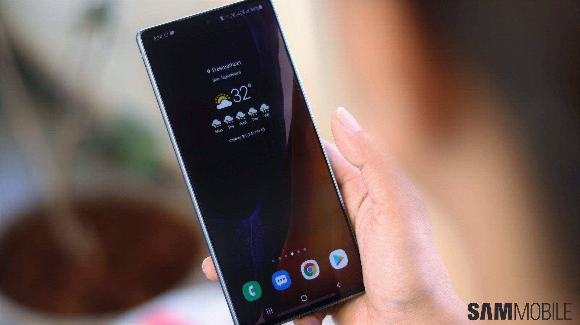 Android 11 con One UI 3.0 su serie Galaxy Note 20 vicino al rilascio della versione stabile