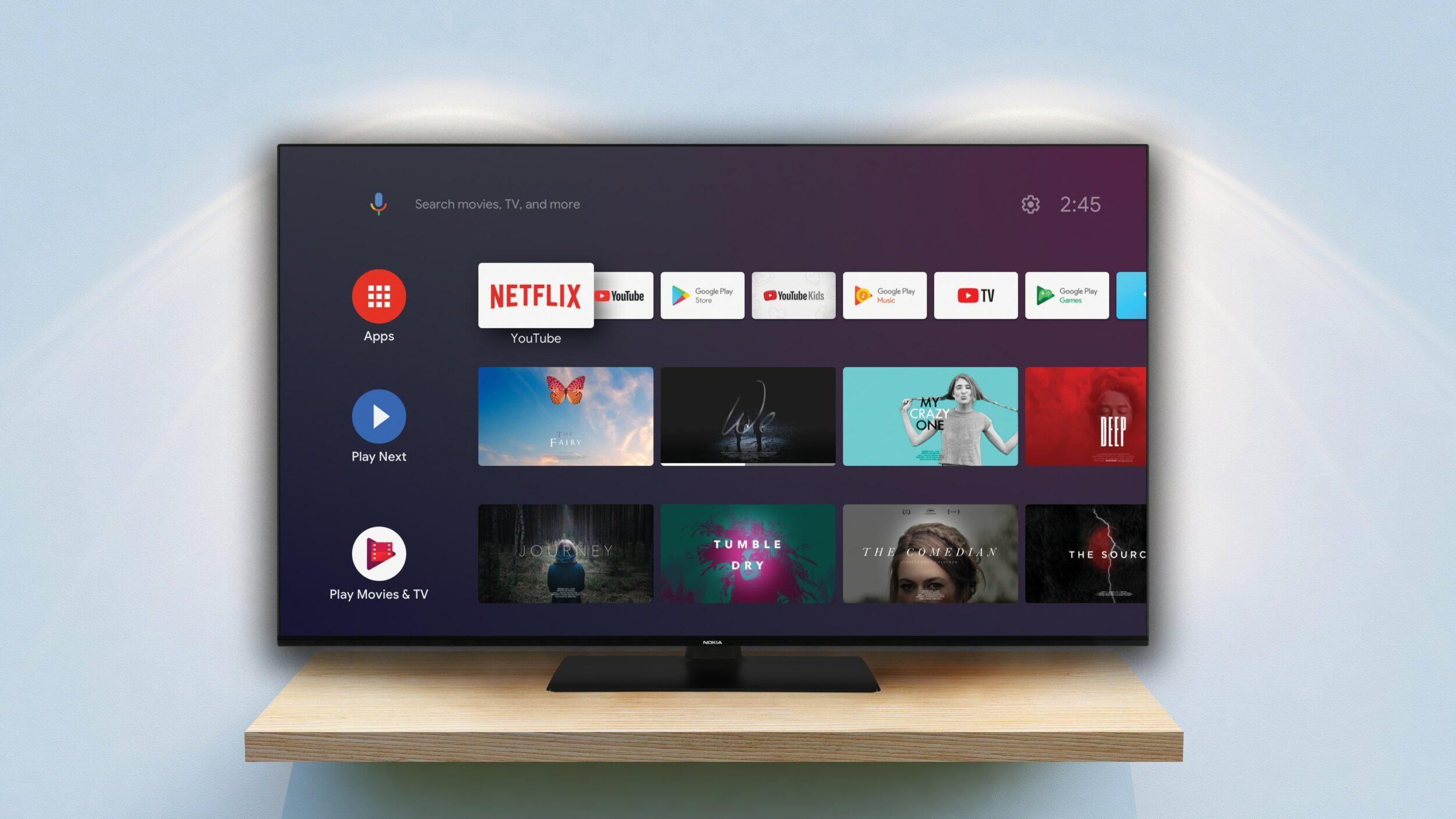 """Le nuove Android TV di Nokia: fino a 75"""" in 4K con comandi vocali, in arrivo in Europa (foto)"""