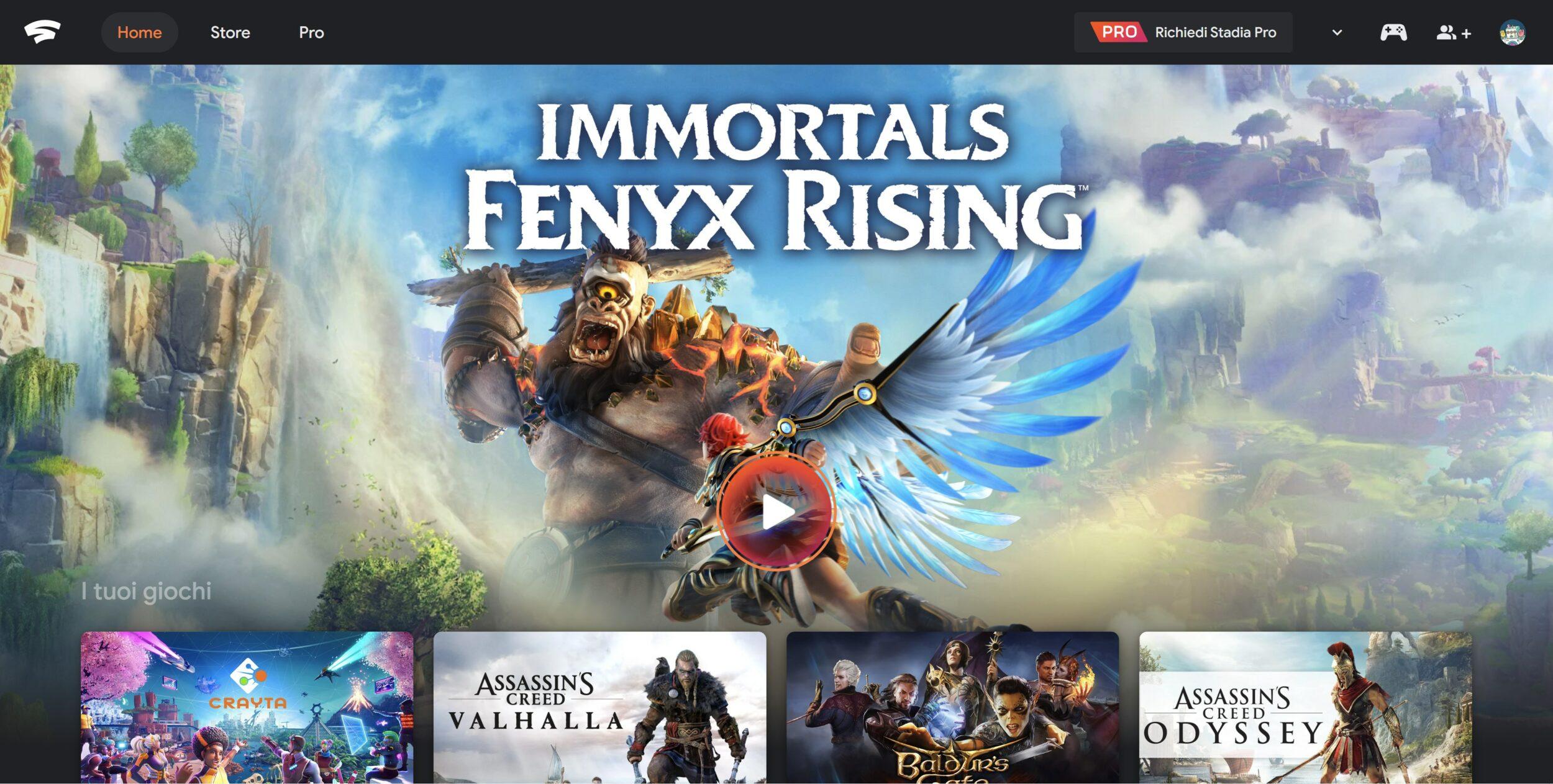 A tutto Stadia: condivisione in famiglia, gratis Crayta, Destiny 2 e Immortals Fenyx Rising (demo)