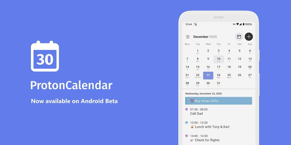Proton Calendar: il calendario attento alla privacy lancia la sua app per Android