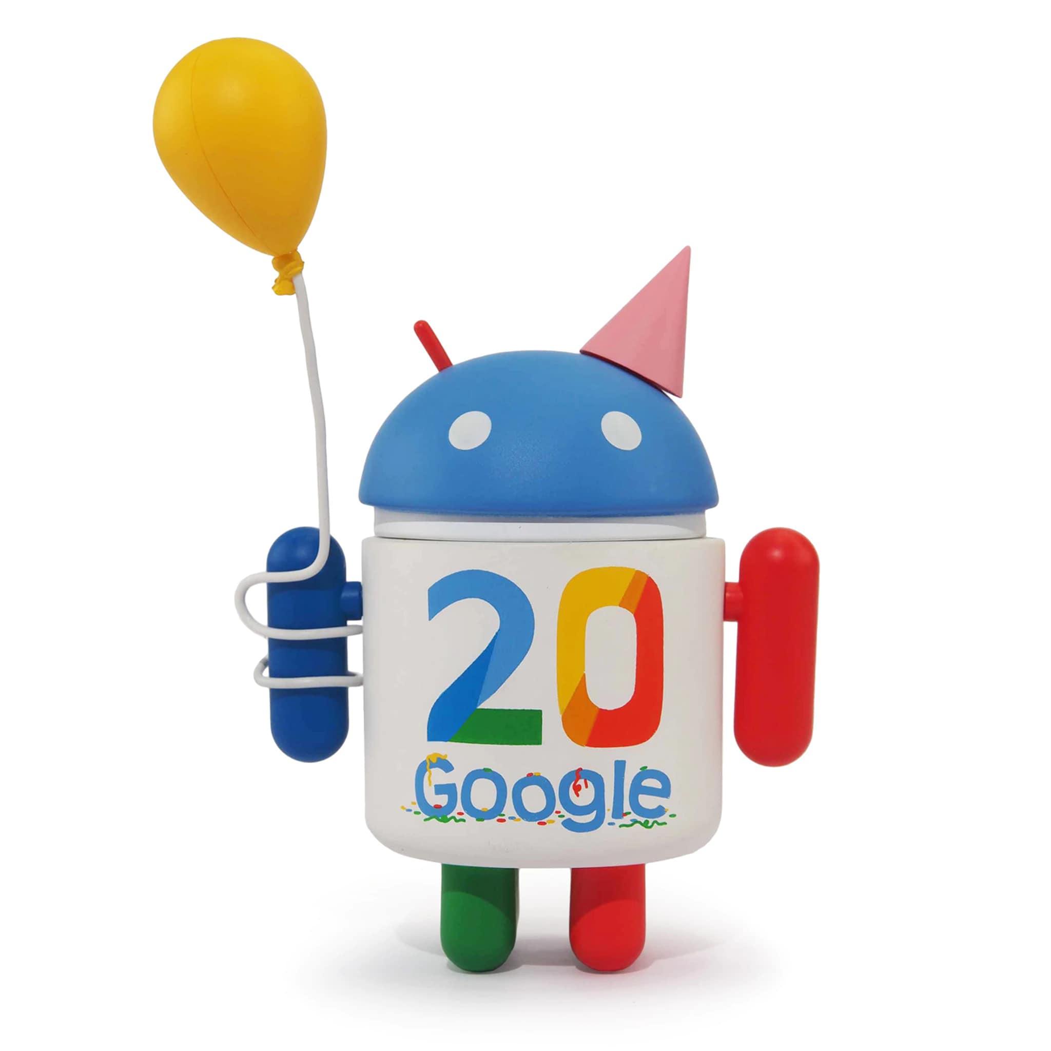 Il breve ritorno della figure Android uscita per i 20 anni di Google (foto)
