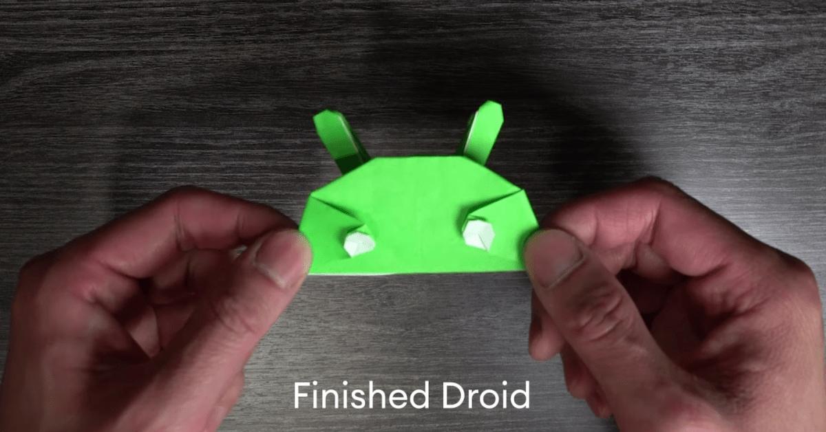 Voglia di origami? Potete seguire il tutorial di Google per creare la mascotte di Android (video)