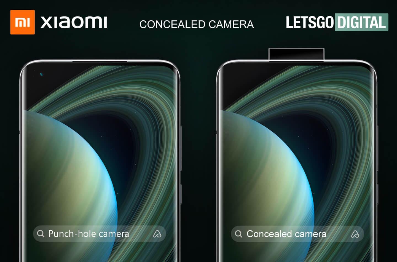 Xiaomi: scovato brevetto di smartphone con fotocamera pop-up con specchio rotante