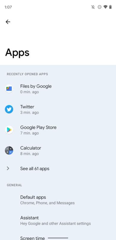 Esempio: Android 12