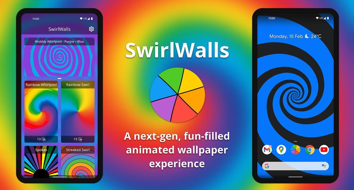 SwirlWalls, la nuova app che crea sfondi animati a spirale sui dispositivi Android (video e foto)