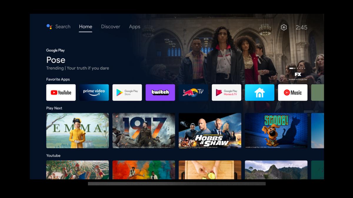 Google semplifica l'interfaccia di Android TV nell'ultimo aggiornamento (foto)