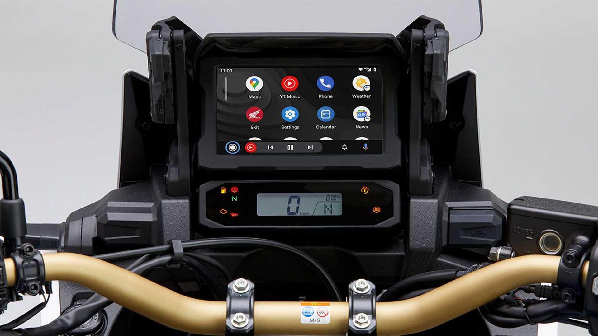 Android Auto su enduro: Honda Africa Twi …