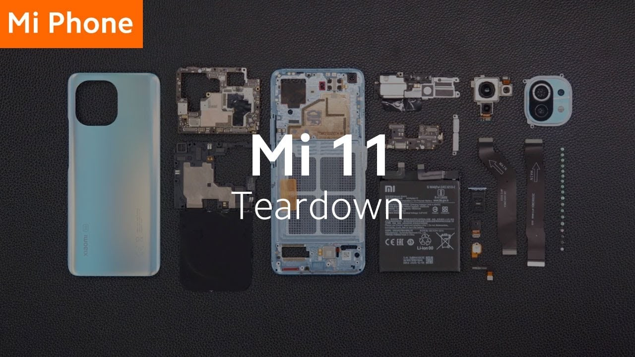 """Xiaomi mostra come smontare Mi 11 e quanto sia """"facile"""" ripararlo (video)"""