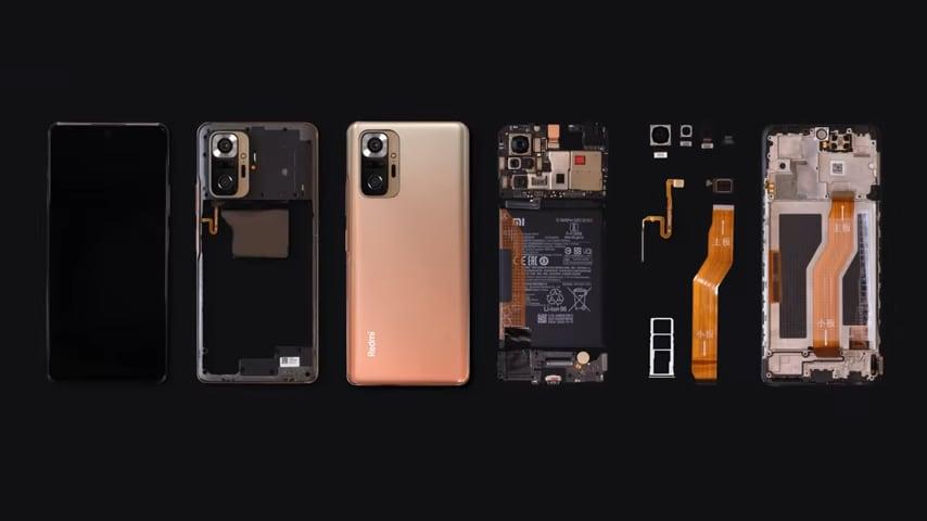 Redmi Note 10 Pro si mostra nel primo teardown ufficiale (video)