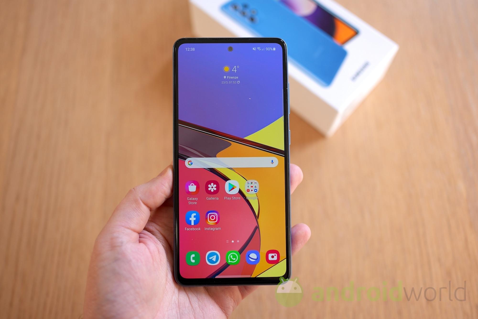 Samsung Galaxy A52 è il primo dispositi …