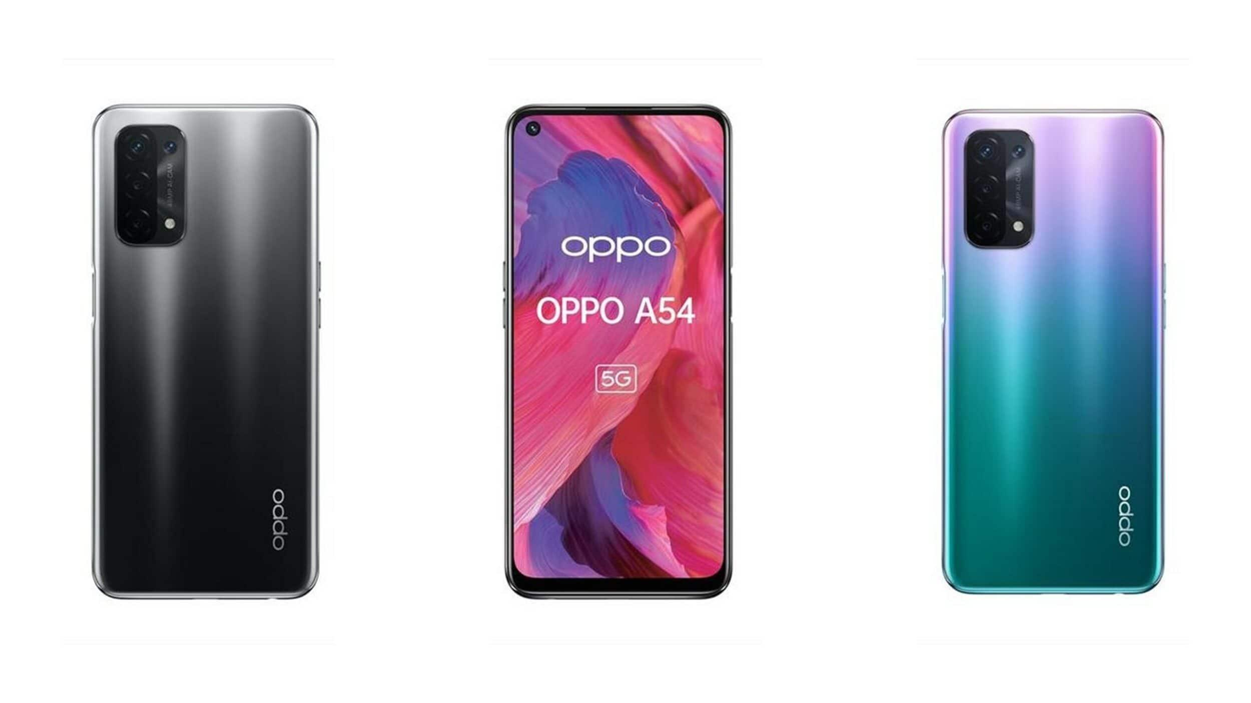 OPPO A54 è ufficiale in Italia: la gamma media con 5G e quad-camera (foto)