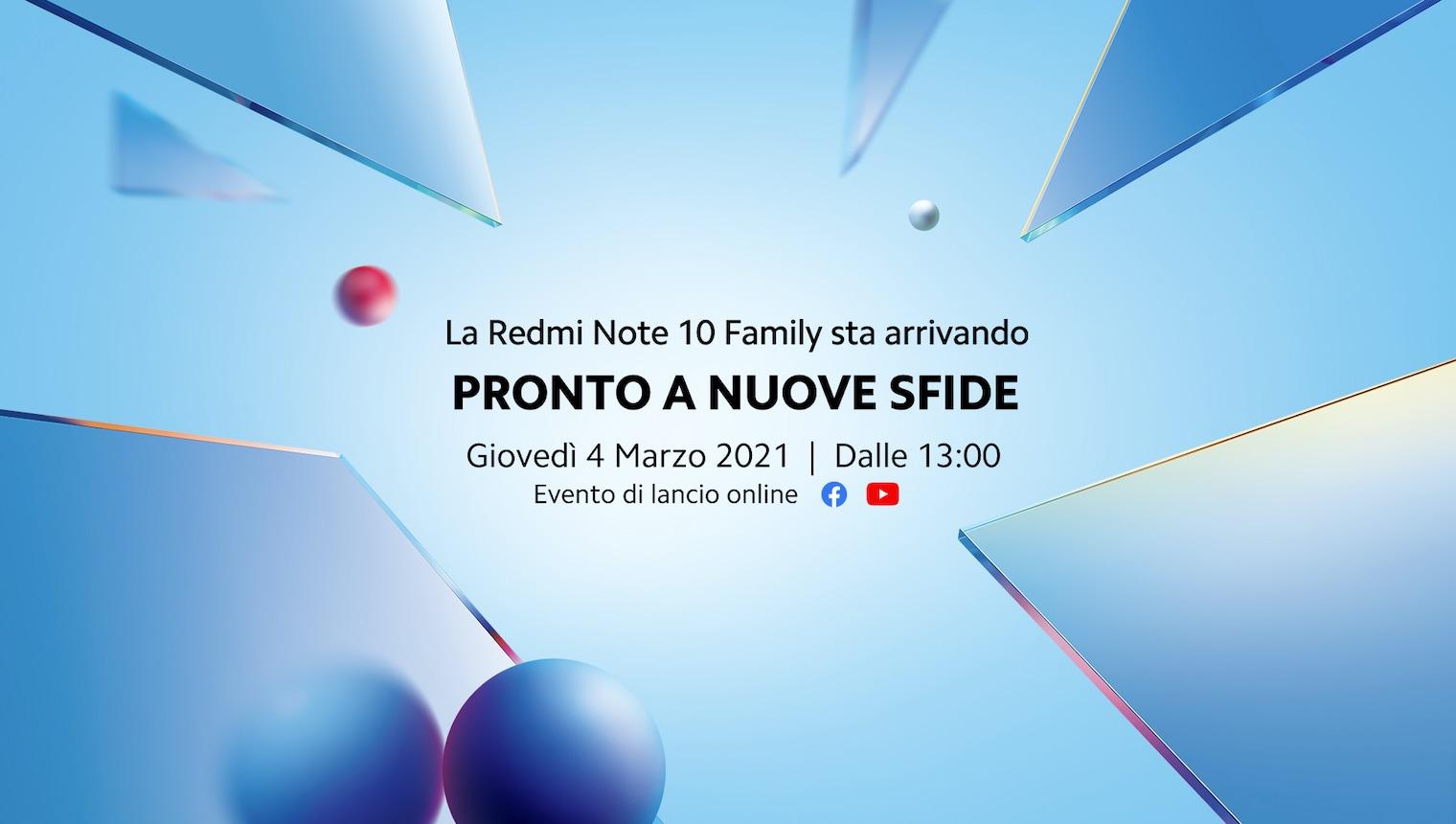 Redmi Note 10 in arrivo in Italia: come seguire in diretta il lancio di domani